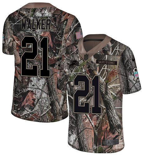 Nike Lions #21 Tracy Walker Camo Men's Stitched NFL Limited Rush Realtree Jersey