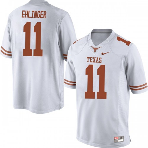 Men's Nike #11 Sam Ehlinger Texas Longhorns Replica White Mens Football College Jersey