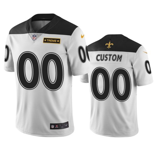 New Orleans Saints Custom White Vapor Limited City Edition NFL Jersey