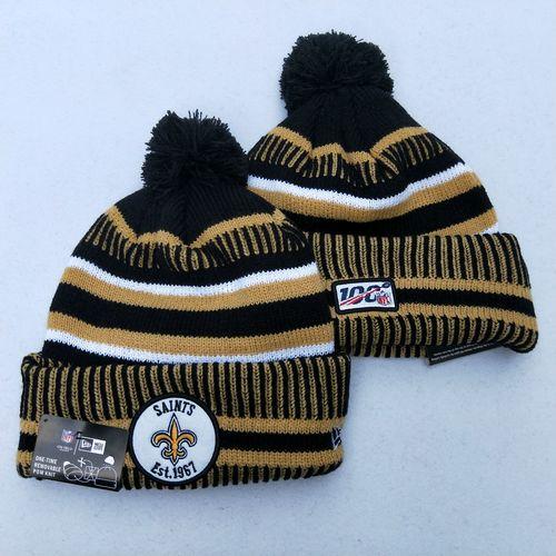 Saints Team Logo Cream 100th Season Pom Knit Hat YD