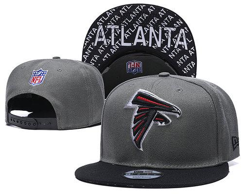 Falcons Team Logo Gray Black Adjustable Hat TX