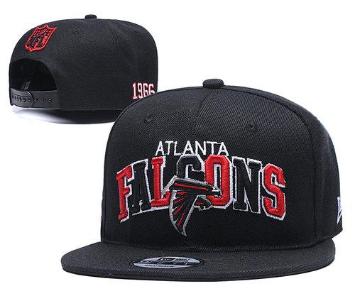 Falcons Team Logo Black 1966 Anniversary Adjustable Hat YD