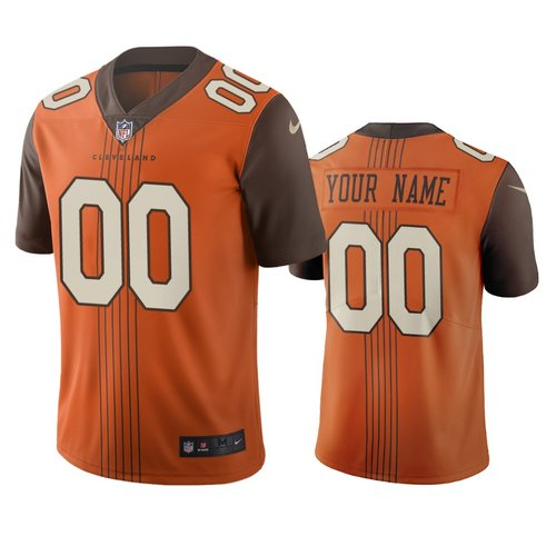 Cleveland Browns Custom Brown Vapor Limited City Edition NFL Jersey
