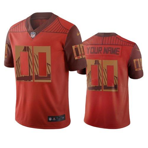 San Francisco 49ers Custom Orange Vapor Limited City Edition NFL Jersey