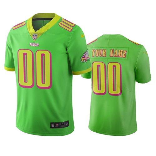 Philadelphia Eagles Custom Green Vapor Limited City Edition NFL Jersey