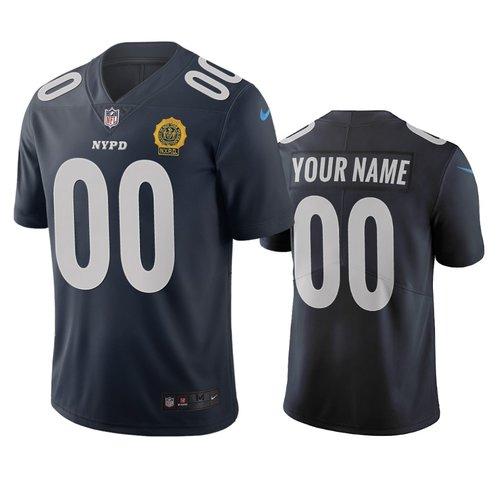 New York Giants Custom Navy Vapor Limited City Edition NFL Jersey