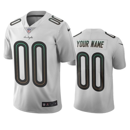 Los Angeles Chargers Custom White Vapor Limited City Edition NFL Jersey