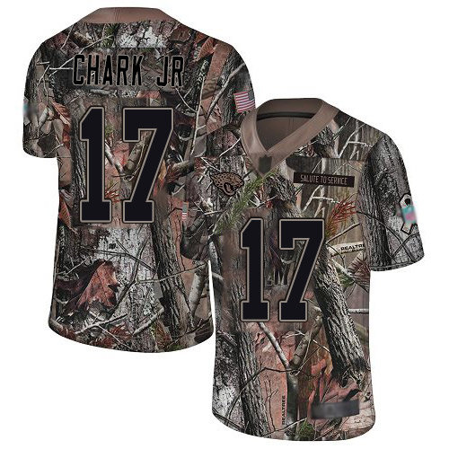 Jaguars #17 DJ Chark Jr Camo Men's Stitched Football Limited Rush Realtree Jersey