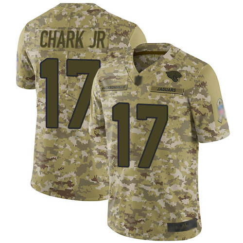 Jaguars #17 DJ Chark Jr Camo Men's Stitched Football Limited 2018 Salute To Service Jersey