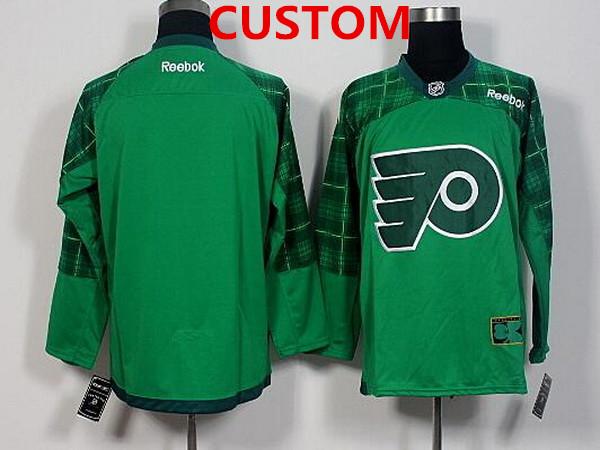 Men's Philadelphia Flyers Custom Green 2016 St. Patrick's Day Hockey Jersey