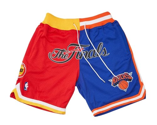1994 NBA Finals Rockets x Knicks Shorts (Red-Blue) JUST DON By Mitchell & Ness