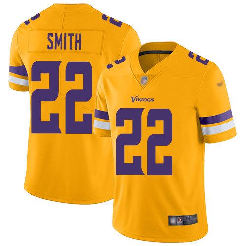 Nike Vikings #22 Harrison Smith Gold Men's Stitched NFL Limited Inverted Legend Jersey