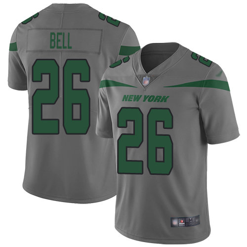 Nike Jets #26 Le'Veon Bell Gray Men's Stitched NFL Limited Inverted Legend Jersey