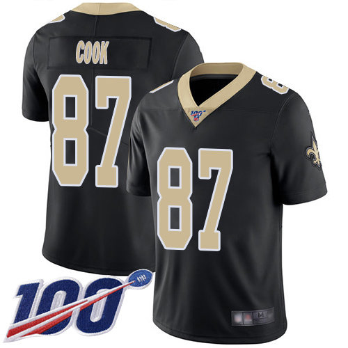Nike Saints #87 Jared Cook Black Team Color Men's Stitched NFL 100th Season Vapor Limited Jersey