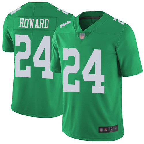 Nike Eagles #24 Jordan Howard Green Men's Stitched NFL Limited Rush Jersey