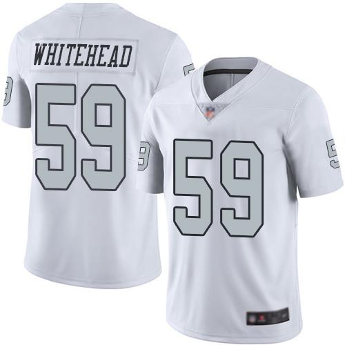 Nike Raiders #59 Tahir Whitehead White Men's Stitched NFL Limited Rush Jersey