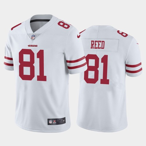 Men's San Francisco 49ers White Limited #81 Jordan Reed Football Road Vapor Untouchable Jersey