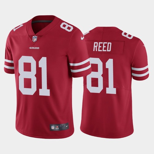 Men's San Francisco 49ers #81 Jordan Reed Red Vapor Untouchable Limited Stitched NFL Jersey