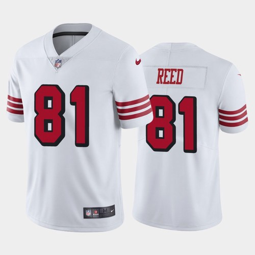 Men's San Francisco 49ers White Limited #81 Jordan Reed Football Rush Vapor Untouchable Jersey