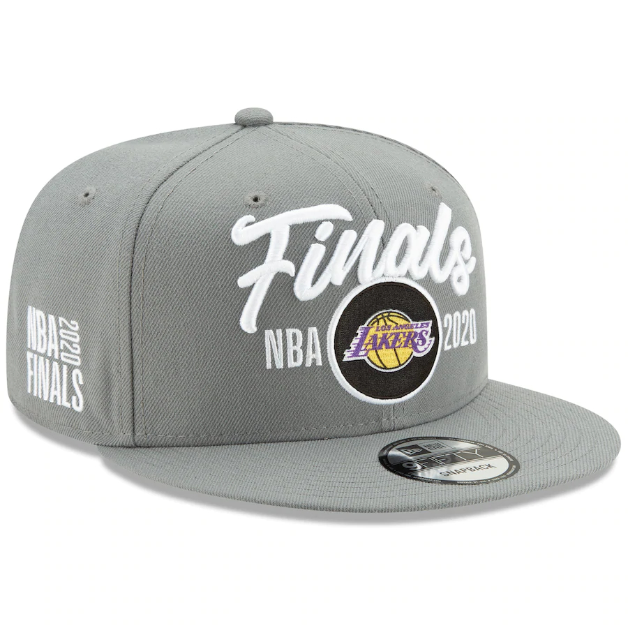 Lakers Team Logo 2020 NBA Finals Gray Adjustable Hat SG