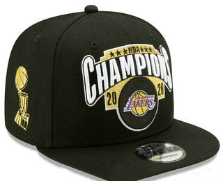 Men's Los Angeles Lakers New Black 2020 NBA Finals Champions Snapback Hat