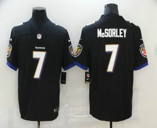 Men's Baltimore Ravens #7 Trace McSorley Black 2020 Vapor Untouchable Stitched NFL Nike Limited Jersey