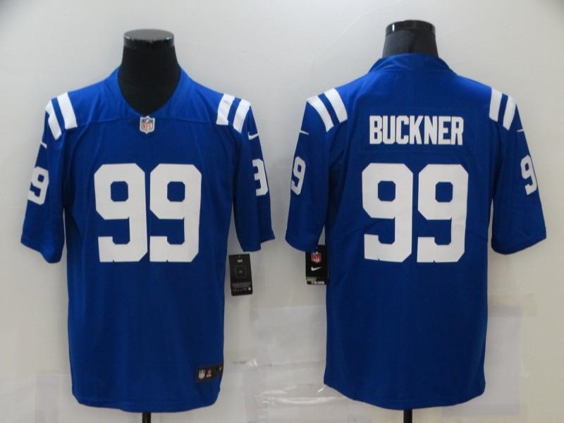 Men's Indianapolis Colts #99 DeForest Buckner Royal Blue 2020 Vapor Untouchable Stitched NFL Nike Limited Jersey