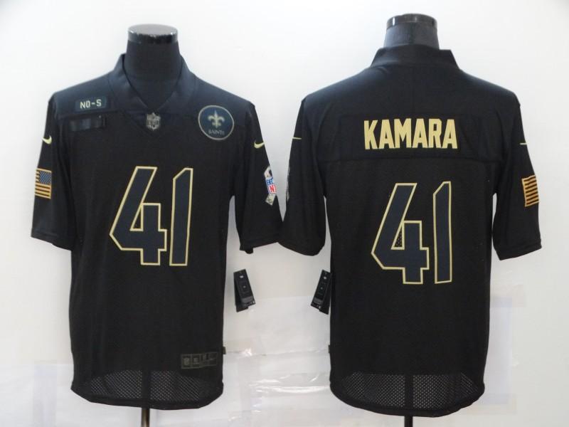 Men's New Orleans Saints #41 Alvin Kamara Black 2020 Salute To Service Stitched NFL Nike Limited Jersey