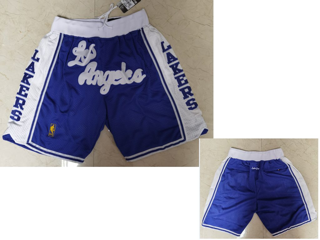 Men's Los Angeles Lakers Blue Just Don Swingman Throwback Shorts