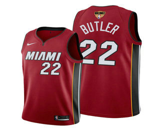 Men's Miami Heat #22 Jimmy Butler Red 2020 Finals Bound Association Edition Stitched NBA Jersey