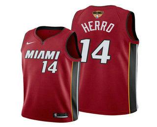 Men's Miami Heat #14 Tyler Herro Red 2020 Finals Bound Association Edition Stitched NBA Jersey