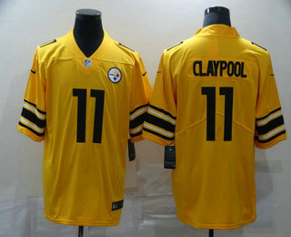 Men's Pittsburgh Steelers #11 Chase Claypool Gold 2019 Inverted Legend Stitched NFL Nike Limited Jersey