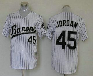 Men's Chicago White Sox #45 Michael Jordan White Stitched MLB Mitchell & Ness Jersey