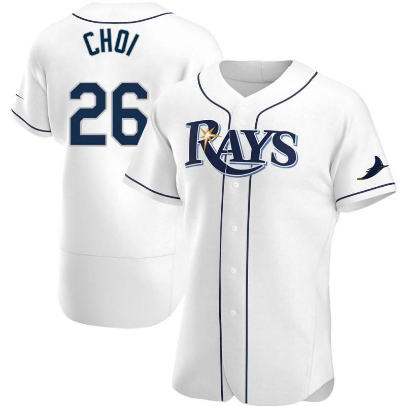 Men's Tampa Bay Rays #26 Ji-Man Choi White Home Nike Jersey