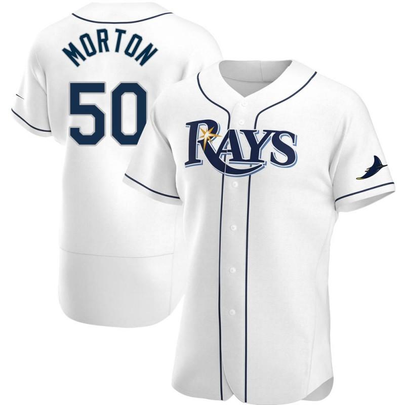 Men's Tampa Bay Rays #50 Charlie Morton White Home Nike Jersey