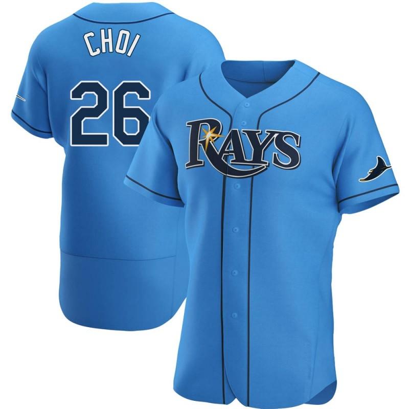 Men's Tampa Bay Rays #26 Ji-Man Choi Light Blue Alternate Nike Jersey