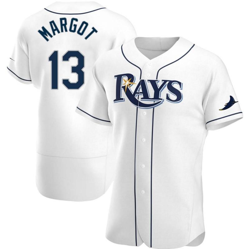 Men's Tampa Bay Rays #13 Manuel Margot White Home Nike Jersey