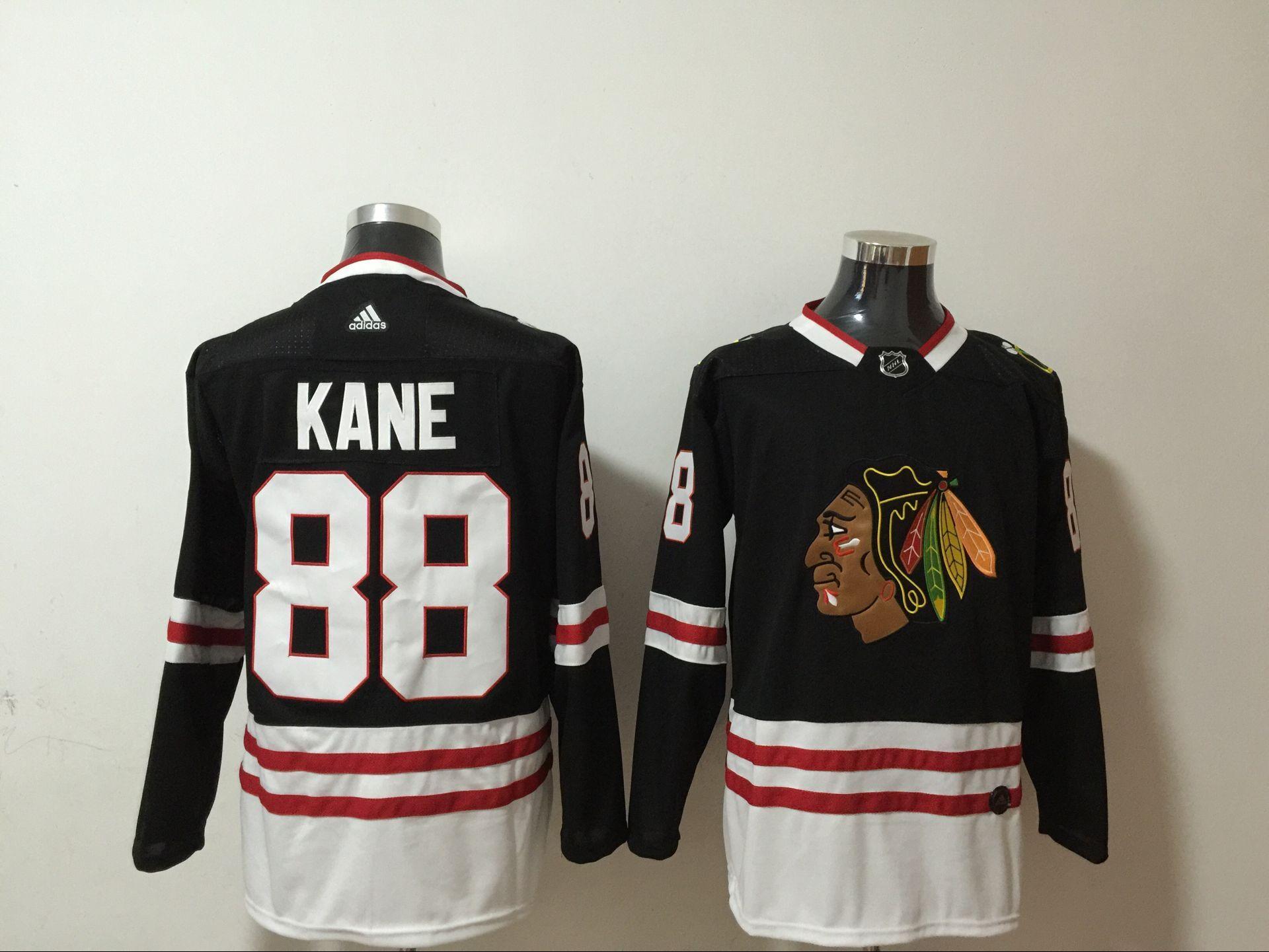 Men's Chicago Blackhawks #88 Patrick Kane NEW Black Adidas Stitched NHL Jersey