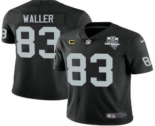 Youth Las Vegas Raiders #83 Darren Waller Black 2020 Inaugural Season With C Patch Vapor Limited Stitched NFL Jersey