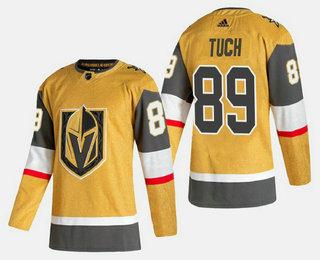 Men's Vegas Golden Knights #89 Alex Tuch Gold 2020-21 Alternate Stitched Adidas Jersey