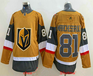 Men's Vegas Golden Knights #81 Jonathan Marchessault Gold 2020-21 Alternate Stitched Adidas Jersey