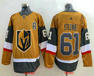 Men's Vegas Golden Knights #61 Mark Stone Gold 2020-21 Alternate Stitched Adidas Jersey