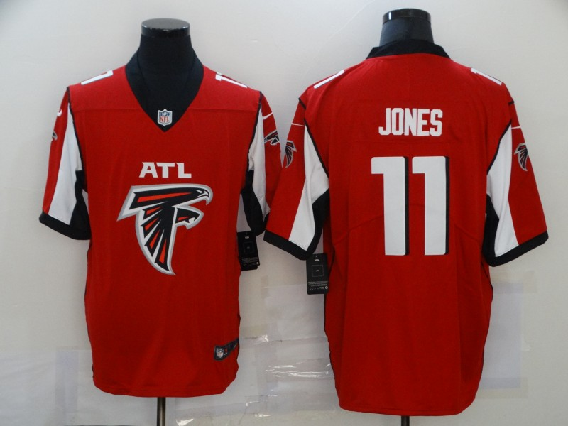 Men's Atlanta Falcons #11 Julio Jones Red 2020 Big Logo Vapor Untouchable Stitched NFL Nike Fashion Limited Jersey
