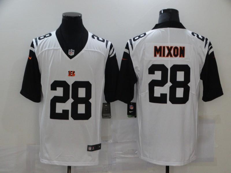 Men's Cincinnati Bengals #28 Joe Mixon White 2016 Color Rush Stitched NFL Nike Limited Jersey