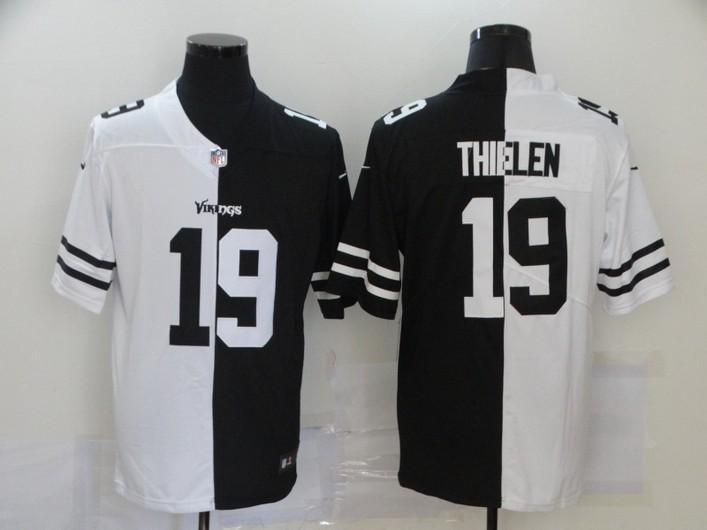 Men's Minnesota Vikings #19 Adam Thielen White Black Peaceful Coexisting 2020 Vapor Untouchable Stitched NFL Nike Limited Jersey