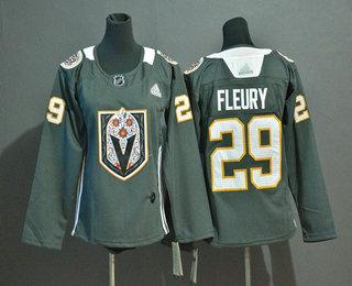 Youth Vegas Golden Knights #29 Marc-Andre Fleury Gray Dia De Los Muertos Adidas Jersey