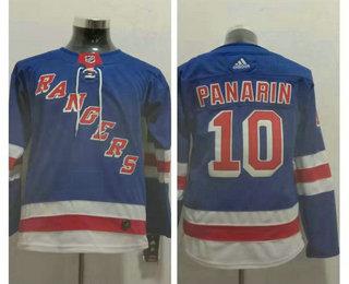 Youth New York Rangers #10 Artemi Panarin Royal Blue Home Adidas Hockey Stitched NHL Jersey