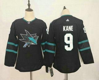 Youth San Jose Sharks #9 Evander Kane NEW Black Adidas Stitched NHL Jersey