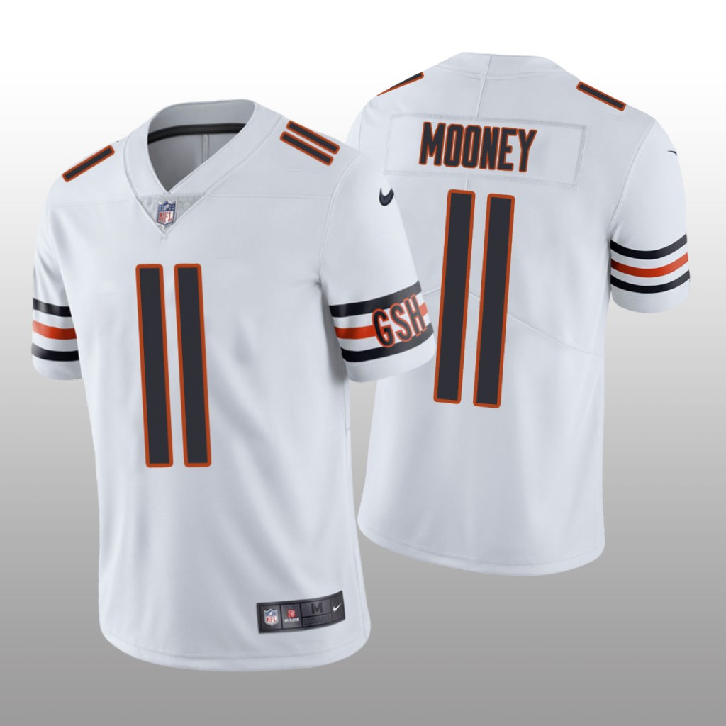 Men's Chicago Bears #11 Darnell Mooney White Jersey Vapor Limited
