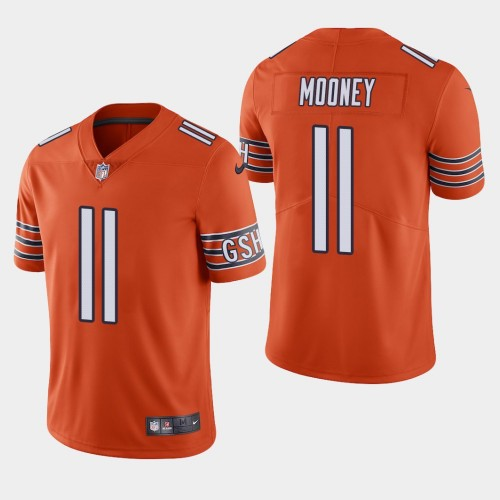 Men's Chicago Bears #11 Darnell Mooney Orange 2020 Draft Vapor Limited Jersey
